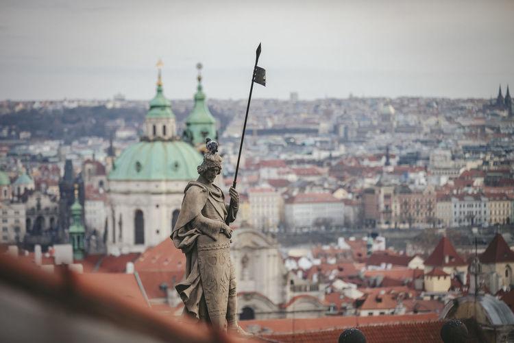 Prague view from the prague castle square.