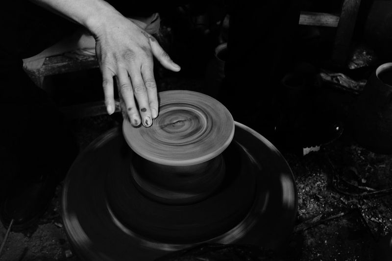 ceramist Handicraft Ceramics Human Hand Hand One Person Real People Skill  Spinning Craft