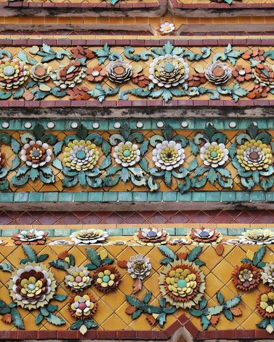 Art And Craft Design Ornate Pattern Day Built Structure Architecture Building Exterior Full Frame Outdoors No People Multi Colored Close-up