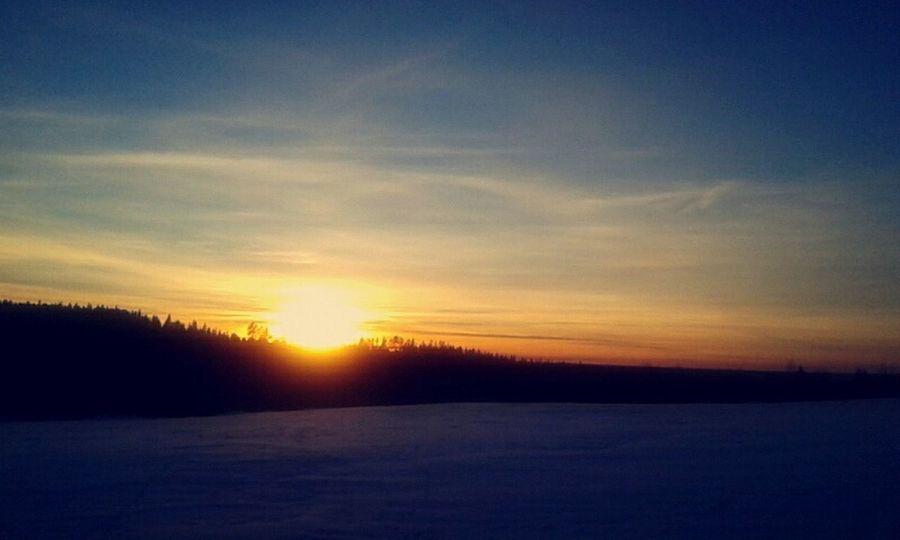 Winter Snow Cold Sunset Landscape Taking Photos Nature