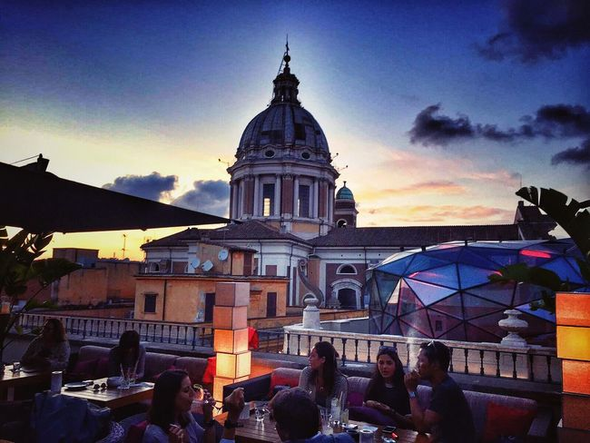 Terrace Zuma Bestoftheday Aperitivo  Sushi Bestmoment Happiness Hello World Enjoying Life OpenEdit Hanging Out Taking Photos Sunset City Roma