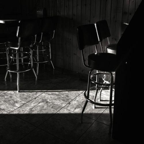 Dive Bar Drinking Light Blackandwhite