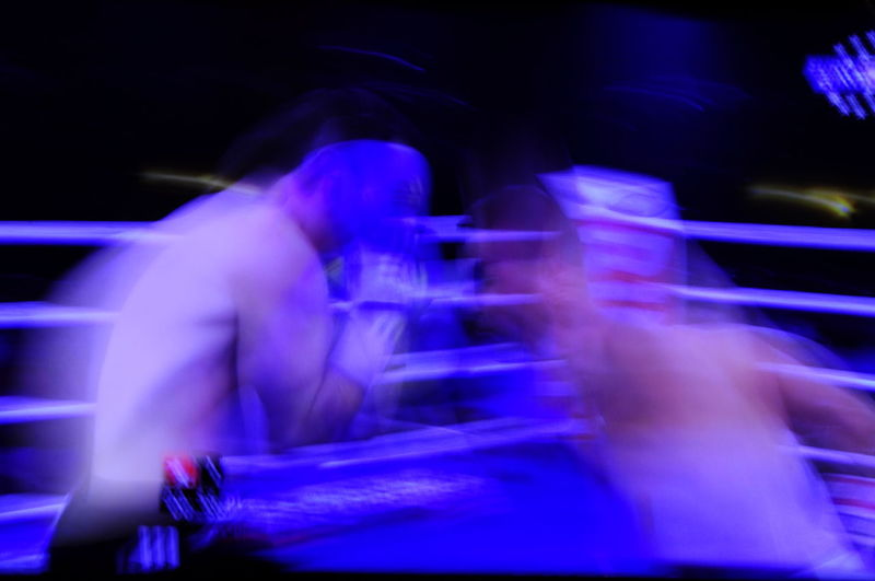 Boxing Fight Light And Shadow Long Exposure Motion Night Photography People Sport Tv Photography Vibrant Color