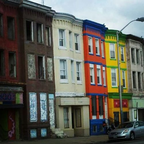 North Avenue City Cityscape Baltimore Bmore Baltimorepride NorthAvenue Life Charmcity Diversity Photo Instaphoto Color Rowhomes  Thecrazypalate Bmore_of_the_change