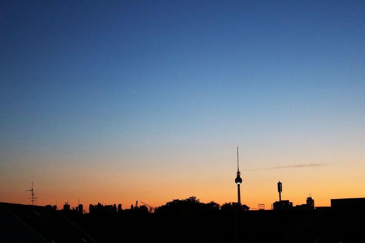 Berlin Skyline City Clear Sky Outdoors Silhouette Sky Sunset Tower #urbanana: The Urban Playground HUAWEI Photo Award: After Dark