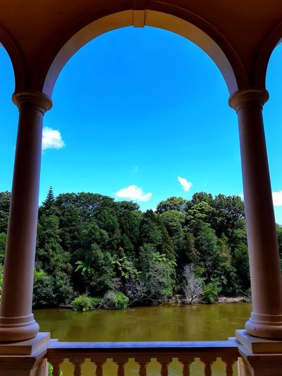💙💚set me free💚💙 https://youtu.be/fk4BbF7B29w Clouds And Sky Copy Space Late Afternoon Summer Heat River In The Shade Tree Lined River Outdoors Photograpghy  Scenery Photography City Tree Water Architectural Column Blue Arch Symmetry Clear Sky Sky Courtyard  Triumphal Arch Historic Monument