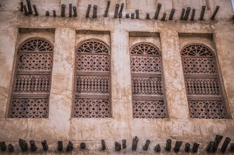 Doha Windows Architecture Pattern Built Structure No People History The Past Building Wall - Building Feature The Architect - 2018 EyeEm Awards