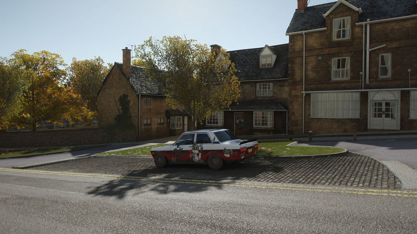 FH4 Forza Horizon 4 Forza Horizon Building Exterior Architecture Built Structure Car Mode Of Transportation Motor Vehicle Transportation Building City Sky Land Vehicle Nature Plant Tree Day Street Residential District Road Sunlight Motion Outdoors