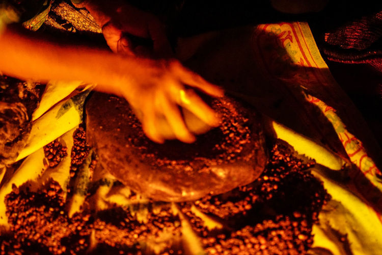 Iran Travel Destinations Travel Photography Nomadic Shia Community Travel Nomadic Life Flame Human Hand Heat - Temperature Fire Hand Close-up Burning Human Body Part Fire - Natural Phenomenon Wood - Material Motion Indoors  Orange Color Night Glowing Preparation  Firewood Finger