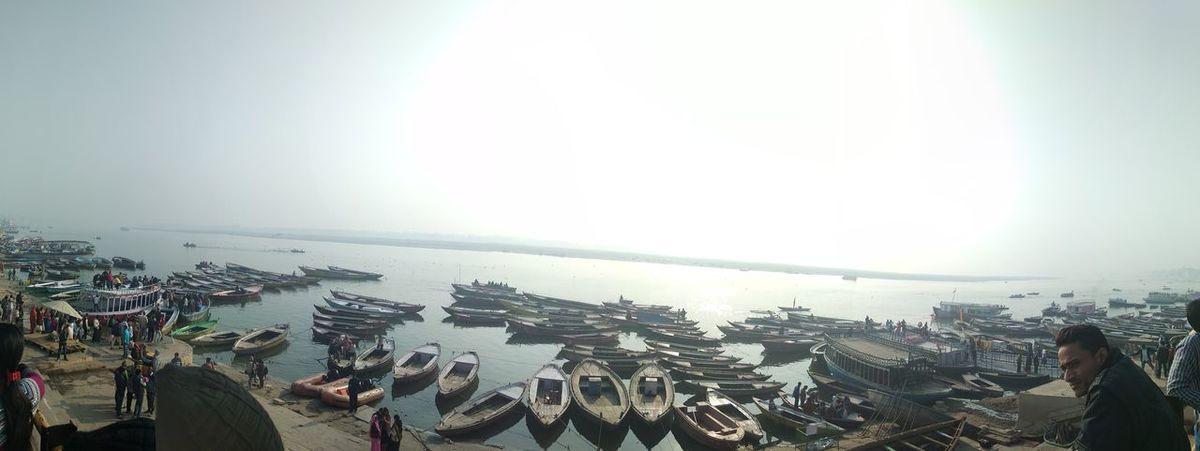 Sunrise in Varanasi near river Ganga #ganga #varanasi #Sunrise City Cityscape Urban Skyline Modern Skyscraper Water Sunset Sunlight Sky Architecture First Eyeem Photo EyeEmNewHere