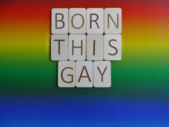 Born this gay 😄 Born Wooden Letters Wooden Lgbt Pride Lgbt Lesbian Pride Words To Live By  Words Rainbow Colors Rainbow Multi Colored Born This Way Gay Multi Colored Text Communication Yellow Choice No People Close-up Day