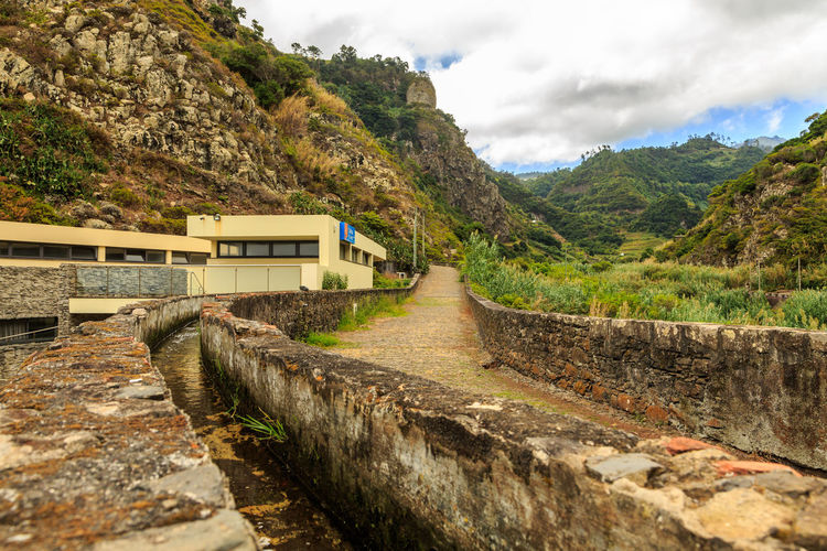 Madeira Island São Jorge Architecture Beauty In Nature Building Exterior Built Structure Cloud - Sky Day Levada Mountain Nature No People Outdoors Scenics Sky The Way Forward Tree Water
