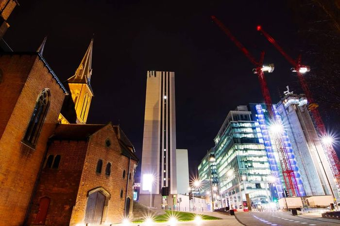 Architecture Hotel View Churches Nightphotography Birmingham UK No People Urban Geometry Urbanphotography