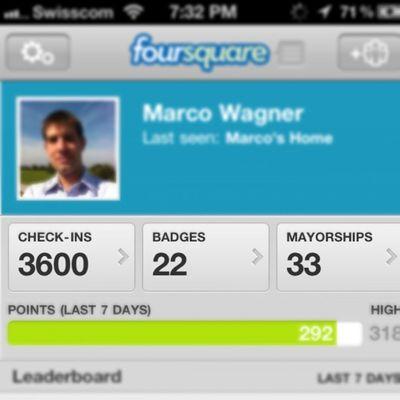 #4sq #foursquare #score Score Iphone4 Foursquare 4sq Marcowagner Igerssuisse