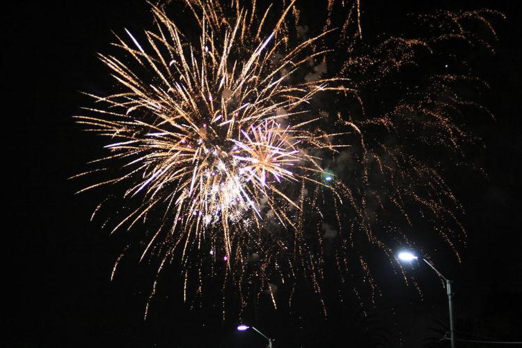 End of the holiday season in Uruguay Firework Nightphotography Celebration Illuminated Night Event Sky No People