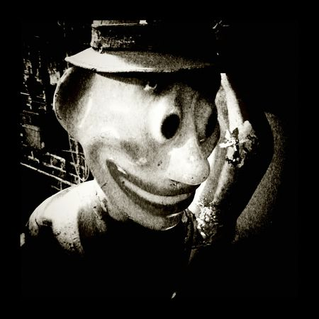 Monochrome Dummy Dummy Heads Clown Clown Face