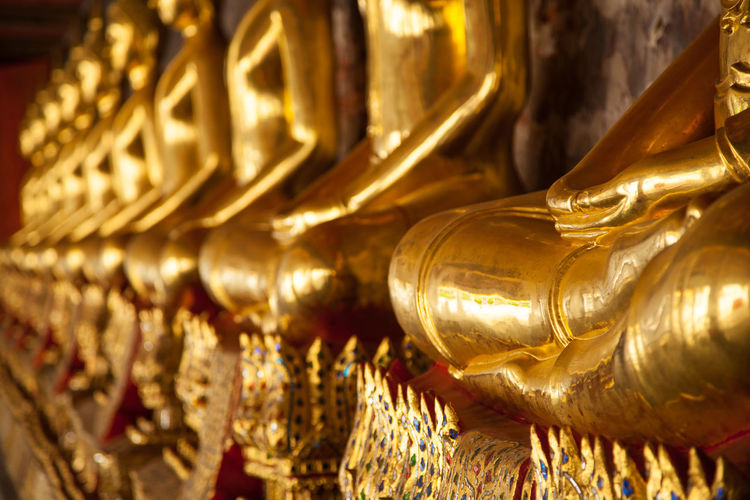 Close-up Day Gold Gold Colored Golden Golden Color Human Representation Indoors  No People Spirituality Statue