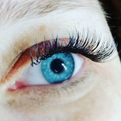 Flat lashes from @avemo 😊 Vippeextensions Vipper Lashextensions Holmestrand Vestfold Flatlashes Avemo Negledrømmen