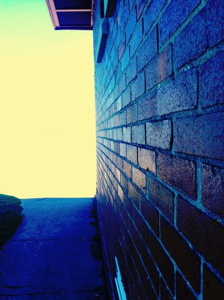 The wall of an old bath house on lake Winnebago. Brick Wall Brick Lines Taking Photos My Favorite Photo The Architect - 2016 EyeEm Awards Enjoying Life Hi! Old-fashioned OshKosh Old Buildings Building Walk Way