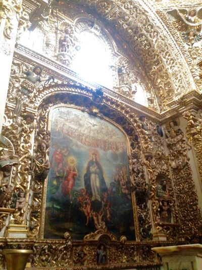 the assumption !! the artist's work José Rodríguez Carnero Shrine of Our Lady of the Rosary Praising The Lord Discovering Great Works Discover Your City Gold Architecture Historic Building Church Cityscapes Mexican Culture Paint