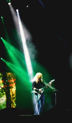 Arts Culture And Entertainment Green Color Stage - Performance Space Performance Popular Music Concert Stage Light Illuminated Rock'n'Roll SPAIN Megadeth Metalupyourass Davemustaine Musicfestival Trashmetal Music EyeEmNewHere Be. Ready. Leyendasdelrock Performing Arts Event Festival Stage Light