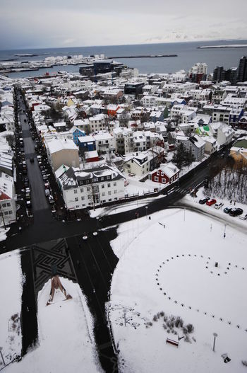 Aerial View Of Cityscape During Winter