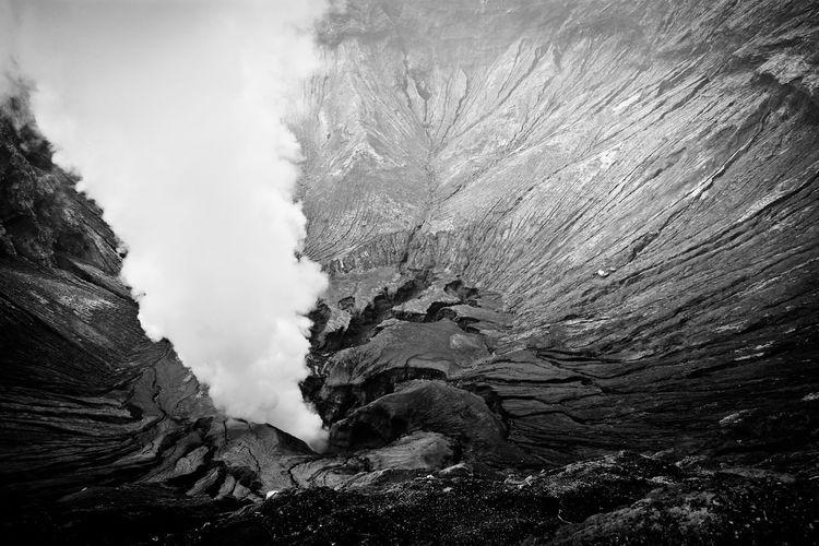 steam jet - Bromo volcano - Java island