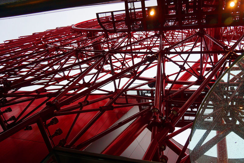 Ferris Wheel HEP FIVE Japan Architecture Built Structure City Low Angle View Outdoors Red Sky