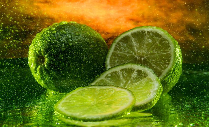Close-up of lemon slices