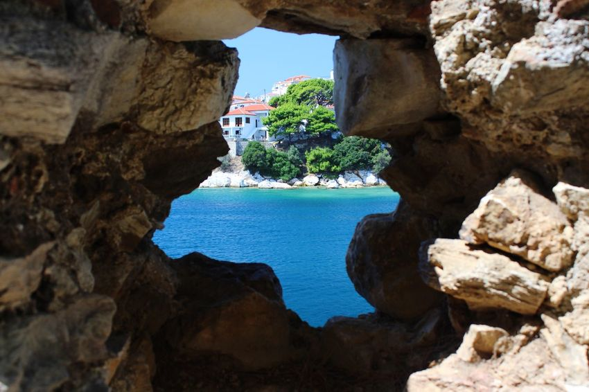 Skiathos Greece EyeEmNewHere Rock - Object Rock Formation Arch Natural Arch Water Nature Geology Beauty In Nature Sea