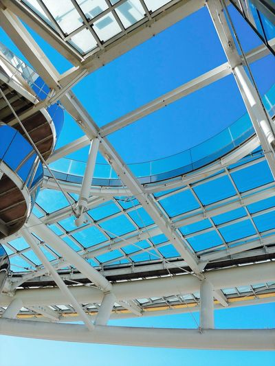Sky Architecture Blue Nagoya Full Frame Colors Blue Sky Oasis21 Japan Blue Color Skyblue Upward View Architectural Detail Ceiling Skylight