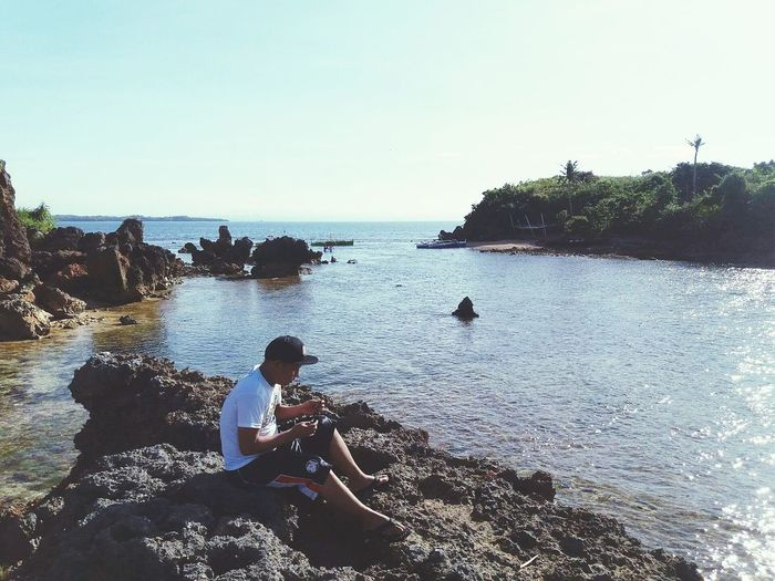 enjoying the view DasolPangasinan Travelgoals Lovetotravel Sea And Sky EyeEm Nature Lover Naturelover EyeEm Best Shots Letsgotravel Yolo Capture The Moment Photography Scape Love To Take Photos ❤ Love Boyfriend❤ Onegreatday