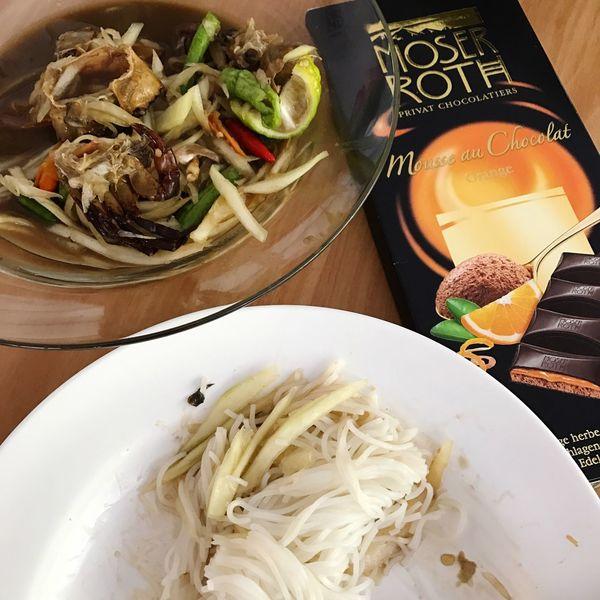 East Meets West Somtam  Somtum Pu-plarha Thaifoods Esan Food Northeastern Thailand