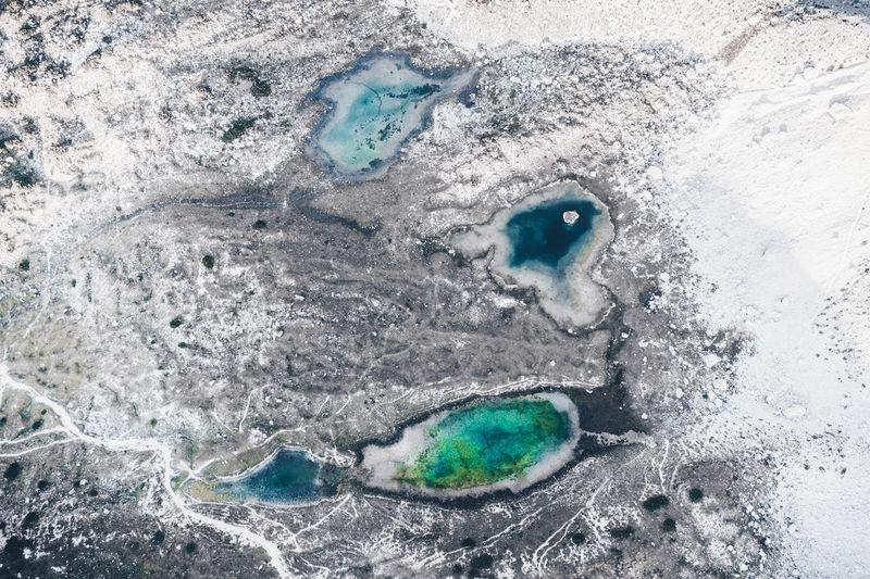Full frame shot of frozen land
