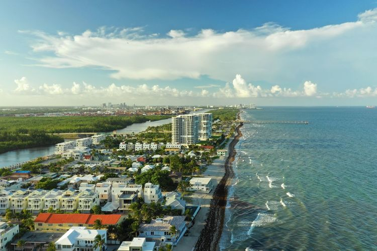 Florida Living Aerial Shot Dji Mavic 2 Pro Architecture Beauty In Nature Built Structure City Cityscape Cloud - Sky Day Florida High Angle View Horizon Horizon Over Water Land Luxury Nature No People Outdoors Scenics - Nature Sea Sky Water