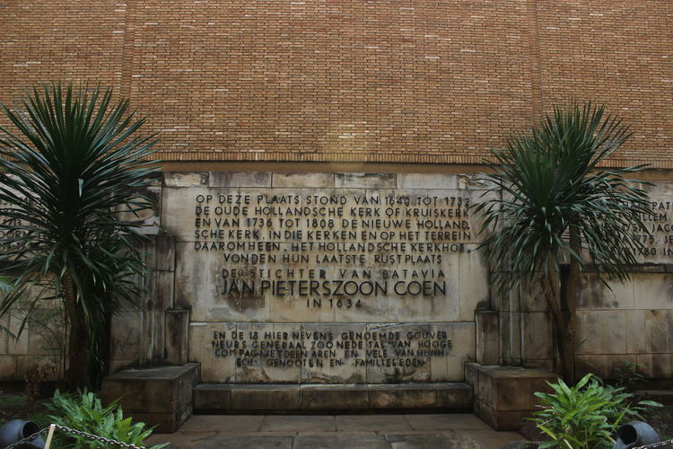 Text on wall of building