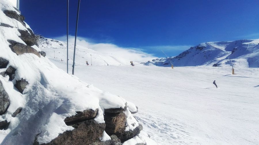Snow Winter Mountain Cold Temperature Nature Outdoors Sky Beauty In Nature Snowboarding Day