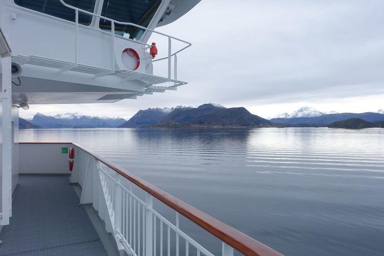 Meer Norway Norwegen Schiff Summer Exploratorium Berg Kommandobrücke Ocean Ruhige See
