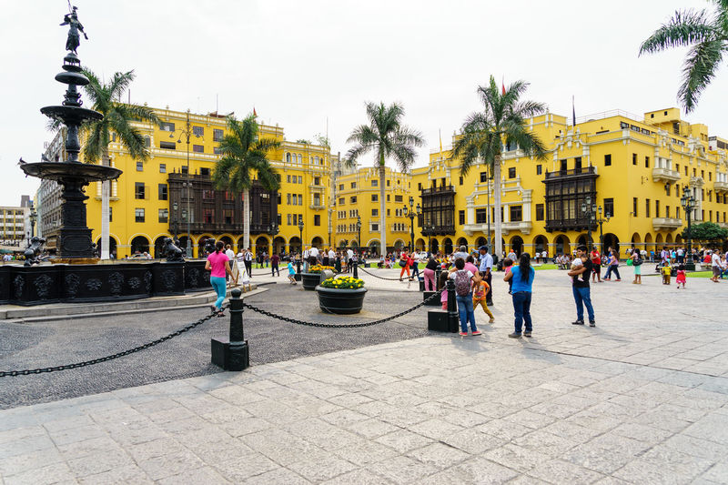 Day Tour Lima, Peru @ February 1, 2016 America Architecture Building Built Structure Capital Cities  City Life Culture Destination Famous Place Incidental People International Landmark Large Group Of People Lima Old Town Outdoors Peru Residential District Sightseeing South Street Tour Tourism Town Square Travel Urban