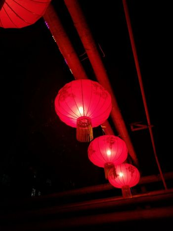 Happy Lunar year ! Chinese Lantern Hanging Red Lighting Equipment Chinese New Year Chinese Lantern Festival Illuminated