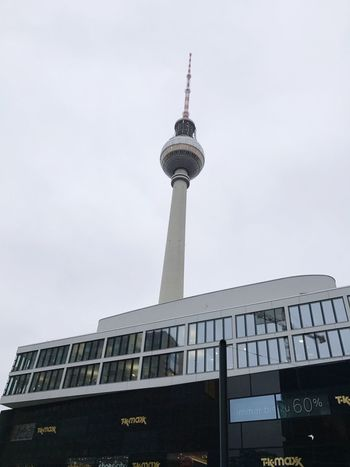 Discover Berlin Architecture Tower Tall - High Communication City Travel Destinations Travel Broadcasting Business Finance And Industry Built Structure Building Exterior Tourism Television Industry Low Angle View Skyscraper Sky Day No People Outdoors Women