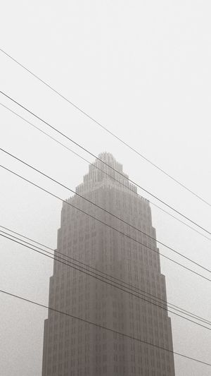 No People Cityscape City Tower EyeEm Best Shots Foggy Smog Smog In The Sky China Architecture Built Structure Building Energy Cable Minimalism Urban Urban Sky Sky High Low Angle View Energy Black & White Blackandwhite Electric Wire Electric Wires The Street Photographer - 2017 EyeEm Awards