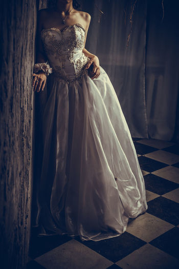 Bride Day Evening Gown Formalwear Indoors  One Person People Real People Wedding Dress Women Young Adult