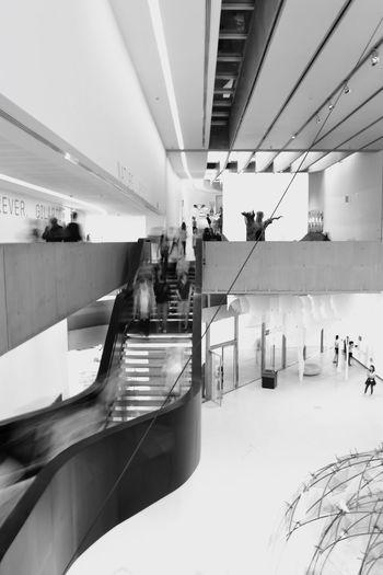 The Architect - 2017 EyeEm Awards ZahaHadid MAXXI Modernart Archiseum Museum Modernarchitecture Built Structure Stairs Blackandwhite People Longexposure
