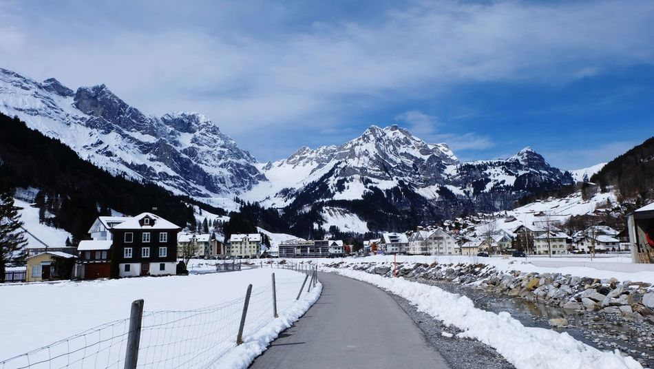 Mountain Snow Cold Temperature Winter Snowcapped Mountain Snowing Tourist Resort Sky Building Exterior Landscape