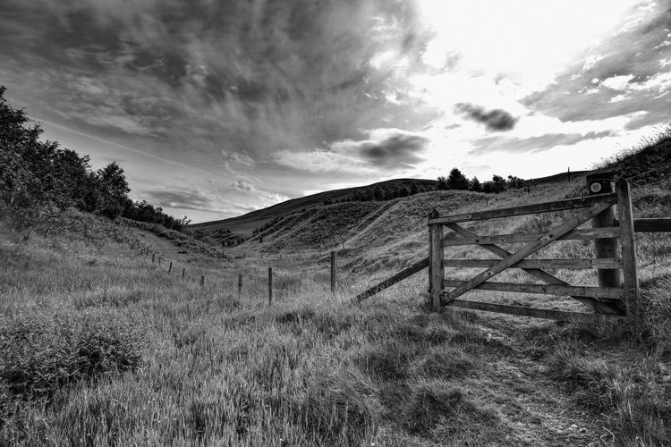 Hiking in Upper Coquetdale, Northumberland Blackandwhite Photography Black & White Black And White Blackandwhite Nikonphotography EyeEm Best Shots EyeEmBestPics Landscape Eye4photography  Landscape_Collection Countryside Hills Sky And Clouds Clouds And Sky Clouds Sky_collection Sky Hiking Hikingadventures Otterburn Ranges Exploring Skyporn Sky Cloud - Sky Nature Plant Land Boundary Fence Rural Scene