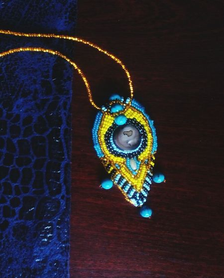 From Daria Dagaz Dariadagaz Jewels Jewelry Jewelrydesigner Blue Color Blue Blue Background Jewellery💎 Handmade Jewellery Handmade Handmade Art Necklace For Sale Necklace Necklacehomemade Necklace ♥ Fasionjewelry Exsercise Fasionstyle Artjewellery Art And Craft Gold Colored No People Day