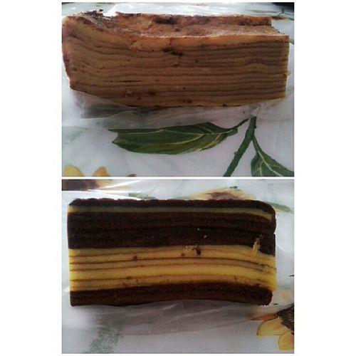 At last... Kek Lapis Chez N kek lapis coklat still need improvement