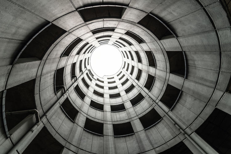 Low angle view of atrium in building