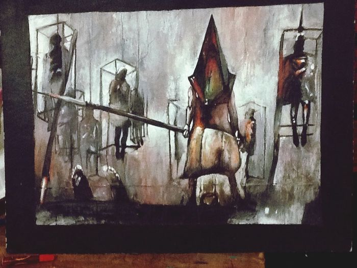 Pyramid head Art Painting Drawing Video Games